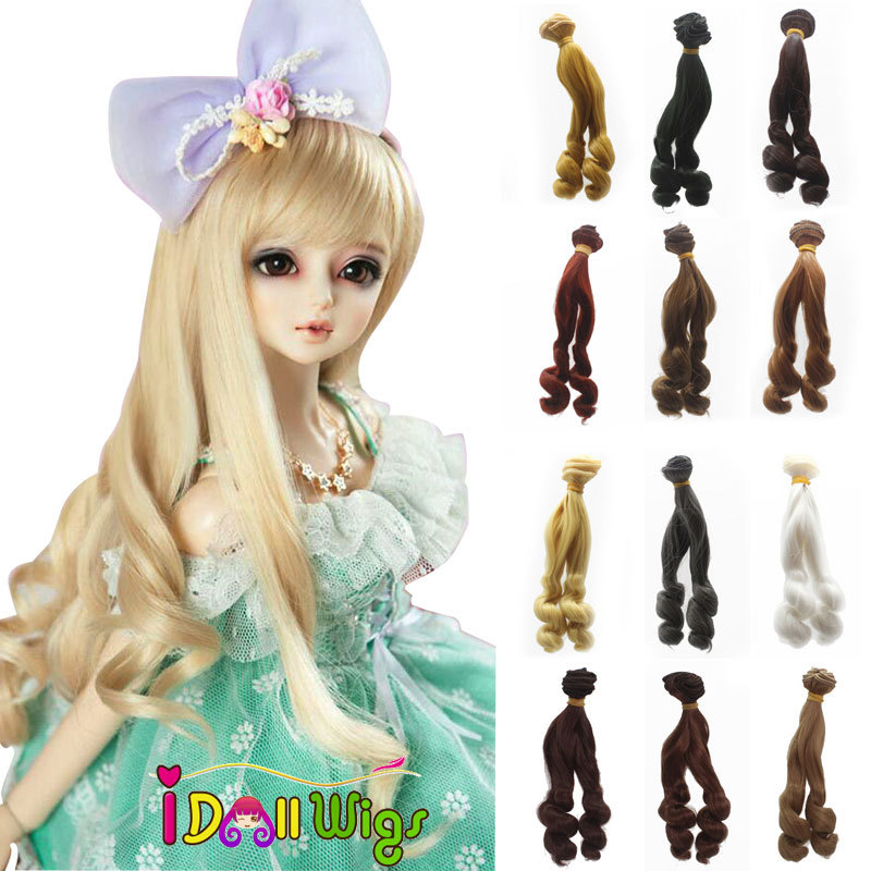Toys & Hobbies Persevering 5pcs/lot 15*100cm Big Curly Natural Black White Khaki Blonde Doll Hair Wefts For 1/3 1/4 1/6 Bjd/sd Diy Doll Wig Accessories Outstanding Features Dolls Accessories