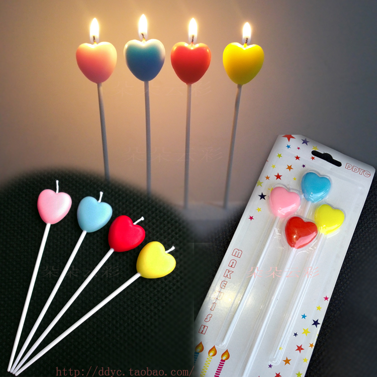 Detail Feedback Questions About Long Sticks Four Love Heart Shaped Birthday Candle Cute Children Red Pink Valentines Day Cake Confession On
