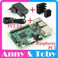 Raspberry Pi 3 Modelo B Board + Dissipador de Calor + Adaptador de Energia da fonte de Alimentação AC. Grosa PI3 B, PI 3 B, PI 3B. 1 GB LPDDR2 Quad-Core WiFi & Bluetooth