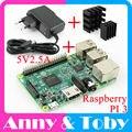 Tablero Raspberry Pi 3 Modelo B + Disipador de Calor + Adaptador de Corriente AC de Alimentación. Escofina PI3 B, PI 3 B, PI 3B. 1 GB LPDDR2 Quad-Core WiFi y Bluetooth