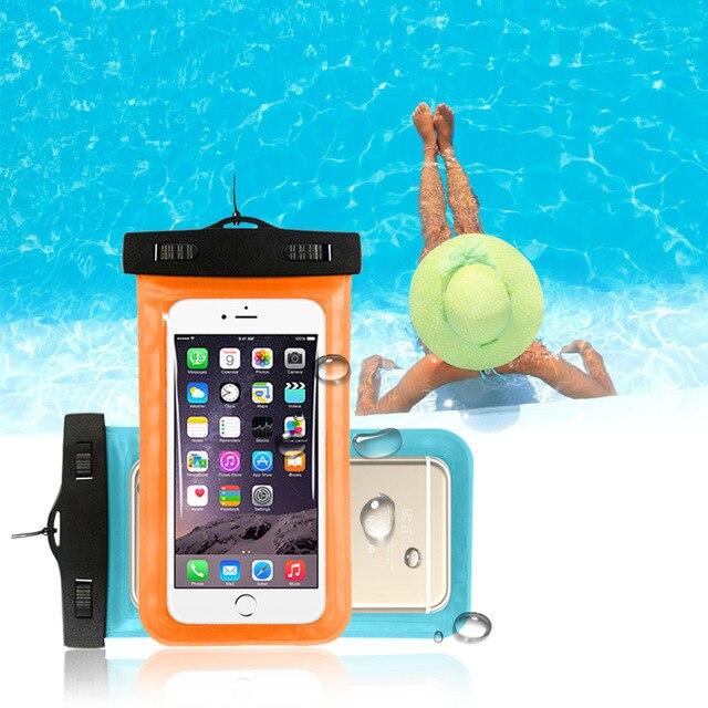 5.5 polegada Do Telefone Móvel Malote Impermeável Saco Debaixo D' Água Seca Caso Capa Canoe Kayak Rafting Acampamento Natação Deriva Para o Smartphone