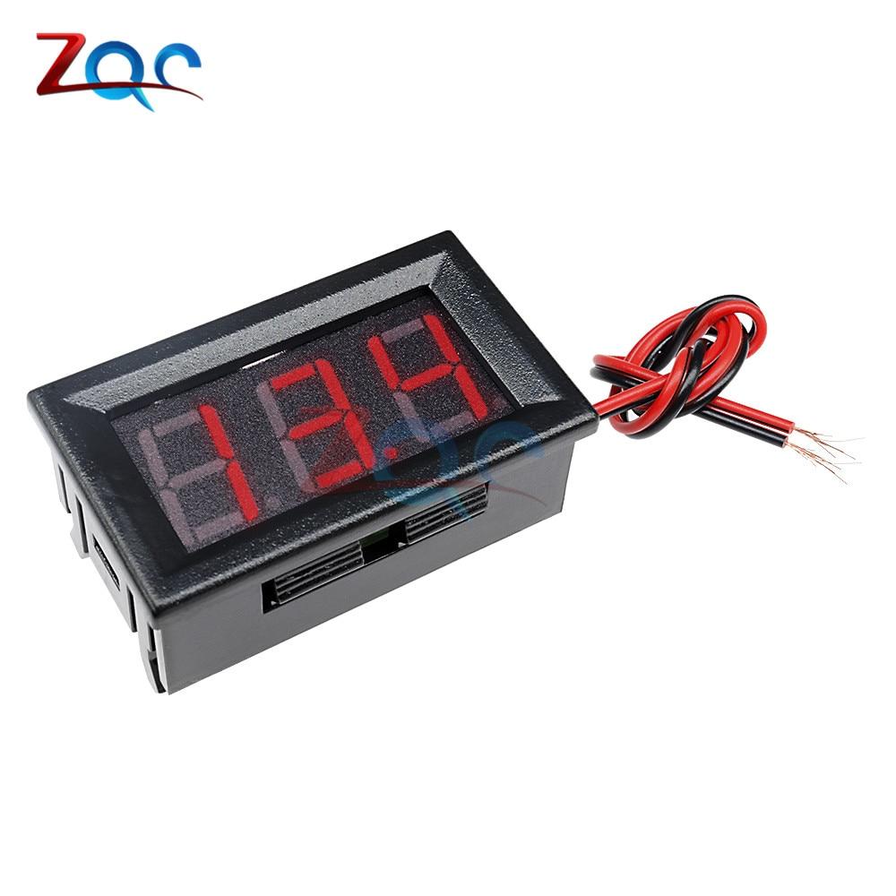 0.56'' Mini LED Digital Voltmeter Detector DC 0-100V 12V 24V Voltage Capacity Monitor Volt Panel Tester Meter For Motorcycle Car