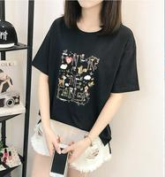 High Quality Cotton Basic Loose T Shirt Women Casual O Neck T Shirt Female T Shirt