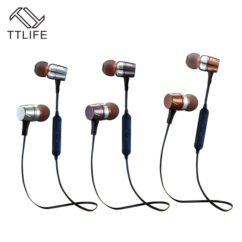 TTLIFE Bluetooth 4.0 Magnetic Earphone Wirelss Stereo CSR8635 Sport Headphone Ecouteur Auriculares with Mic for Calls Music ttlife bluetooth earphone
