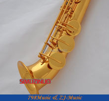 Electrophoresis Gold Curved bell Soprano saxophone Bb key to High F key and G Key