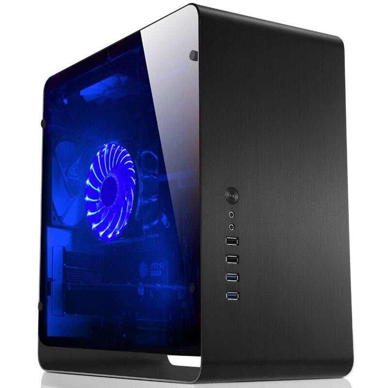 Computer case Jonsbo UMX3 Tempered glass Side Transparent  version black Chassis