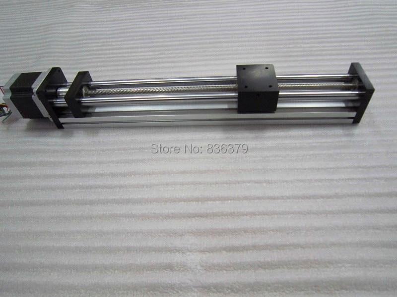 T8 * 8 T-type Screw Linear Slide Stage X Y Z Axis Sliding Table Module Effective Stroke 100mm+57 Nema23 Stepper Motor цена