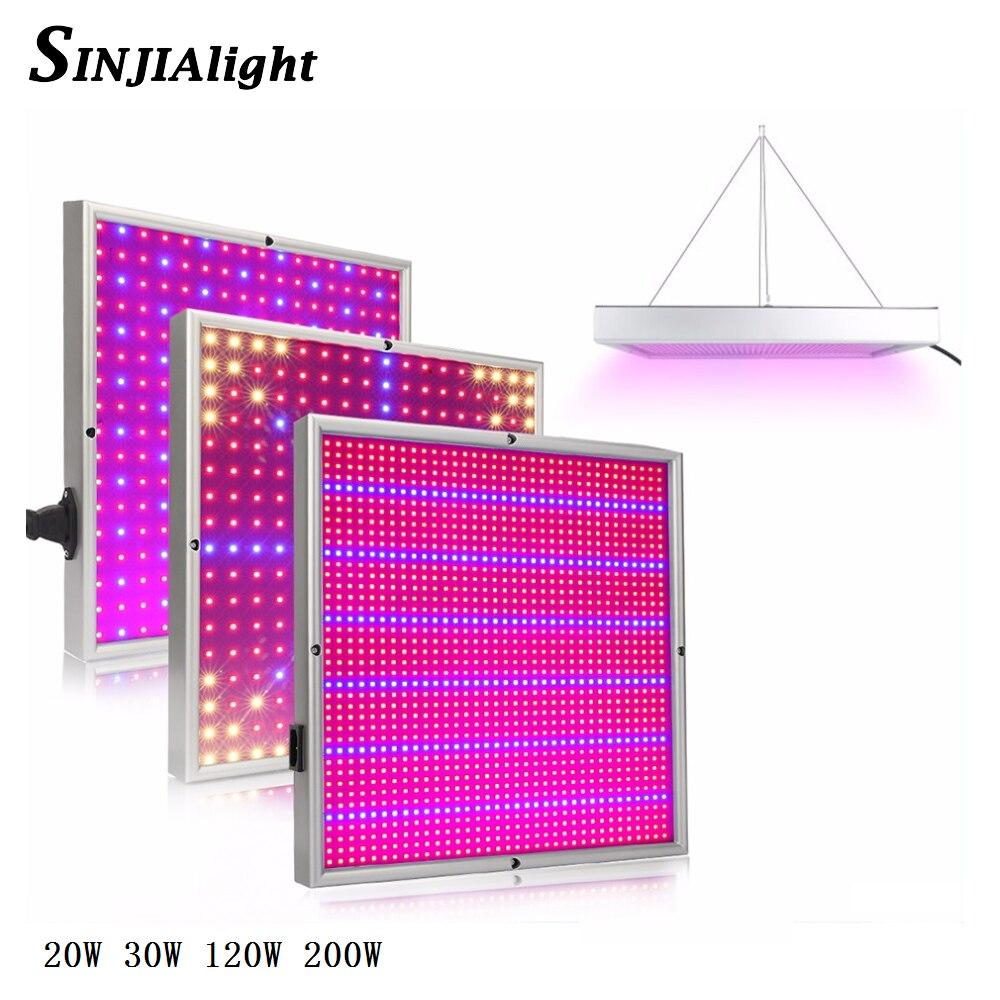 20 W 30 W 120 W 200 W LED crecer luz espectro completo rojo + azul crece la lámpara LED BOMBILLAS para acuario flores hidroponía verduras