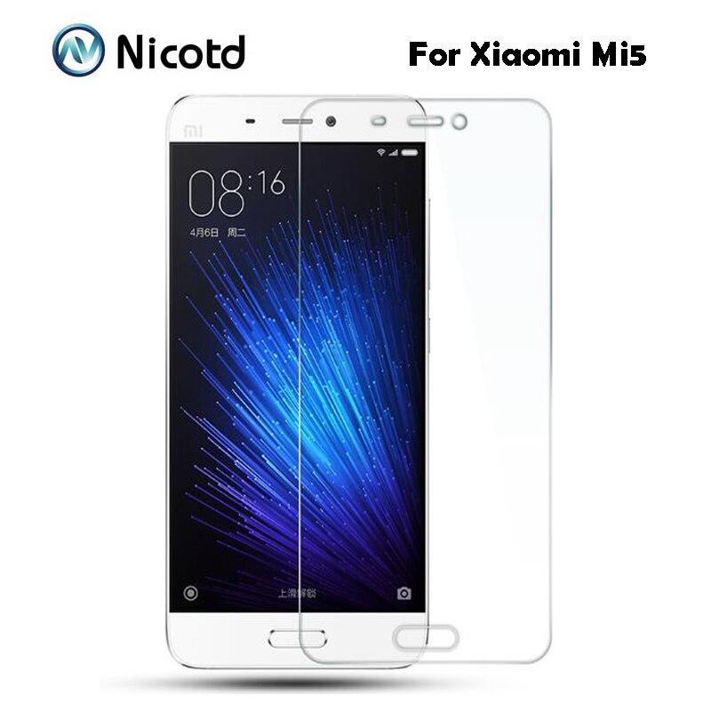 Pour Xiaomi MI5 5 protecteur d'écran en verre trempé 9 H 2.5 Film de protection de sécurité sur Xiaomi5 Libra M5 Mi-5 M cinq pelicula de vidro