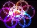 2 шт./лот красочные изменение СВЕТОДИОДНЫЙ браслет зажги Браслет мигать Акриловый светящийся браслет игрушки украшение партии поставки