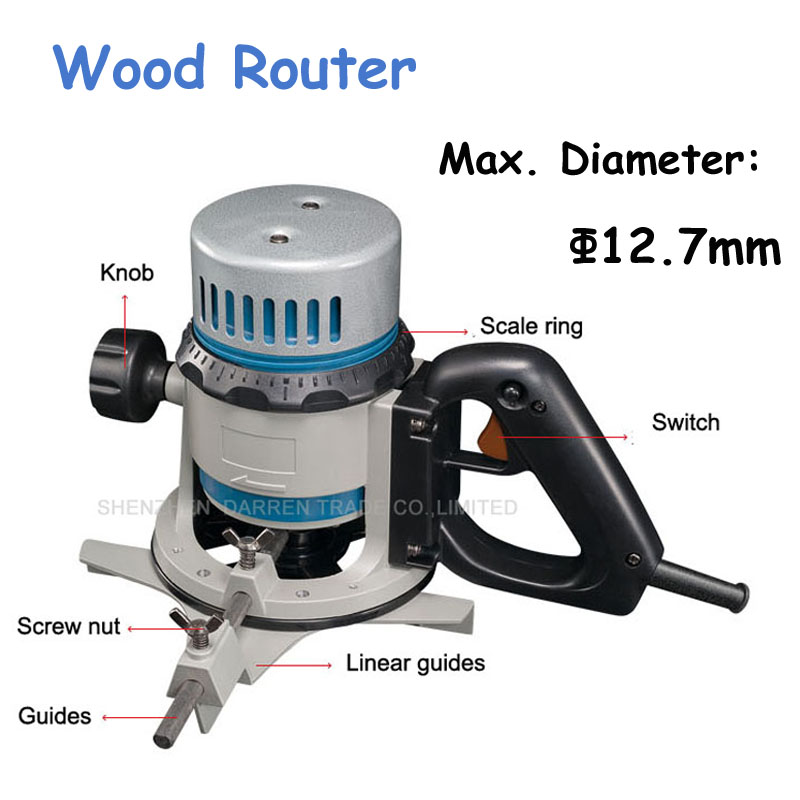 127mm Wood Router 1050w 05 Inch Electric Carving Tool 220v Flat Wood Edge Trimmer Wood Engraving Machine M1R-FF03-12