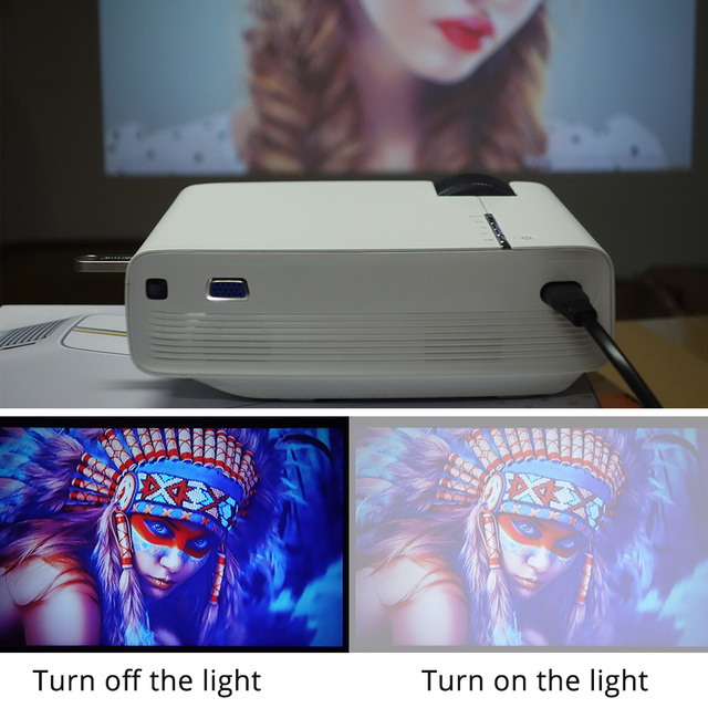 YG400 up YG400A Mini Projector Wired Sync Display More stable than WIFI Beamer For Home Theatre Movie AC3 HDMI VGA USB