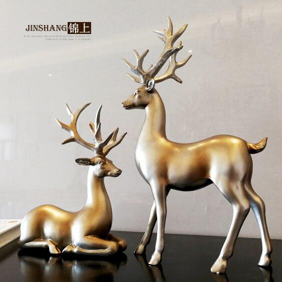 Ретро zhaocai олень украшения домашнего интерьера, гостиная ТВ исследование украшения офиса Свадебные подарки ремесла