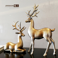 retro Zhaocai deer ornaments Home Furnishing, jewelry living room TV study office decoration wedding gifts crafts