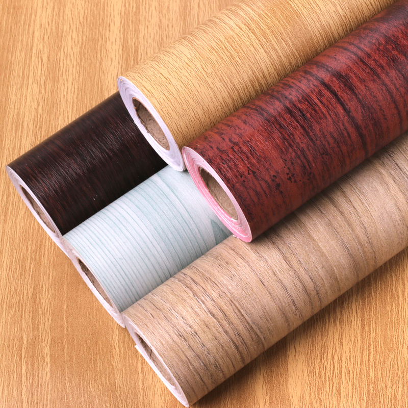 10 M*45cm Pvc Self-adhesive Wallpaper Wood Grain Door Stickers Student Desk Wardrobe Door Wardrobe Furniture Renovation Stickers