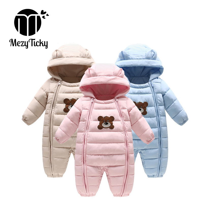 Newborn Baby Boys Girls Kids Rompers Winter Thick Cotton Warm Clothes Jumpsuit