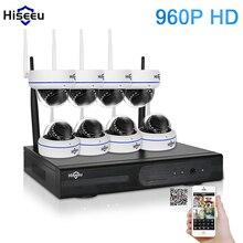Hiseeu 8CH 960 P HD Drahtlose Ip-kamera CCTV-System Drahtlose NVR IR-CUT Kugel Cctv-kamera Home Security System Kit