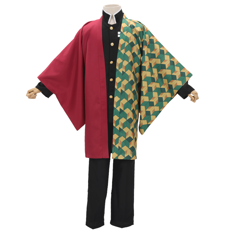 Demon Slayer Kimetsu no Yaiba Kamado Tanjirou Tomioka Giyuu Agatsuma Zenitsu Uniform Cosplay Costume Men Women Party Kimono