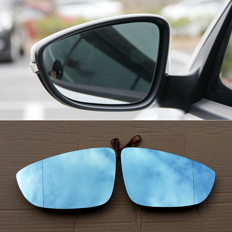 Ipoboo 2pcs New Power Heated w/Turn Signal Side View Mirror Blue Glasses For Volkswagen Scirocco
