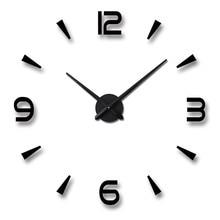 DIY acrylic wall clock living room creative EVA sticker round home decorative