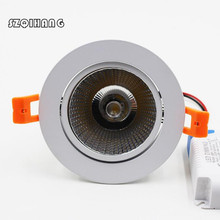 Dimmable Hight light LED Downlight 10W/15W 85-265V COB DownLights Spot Recessed Down Light Bulb free ship