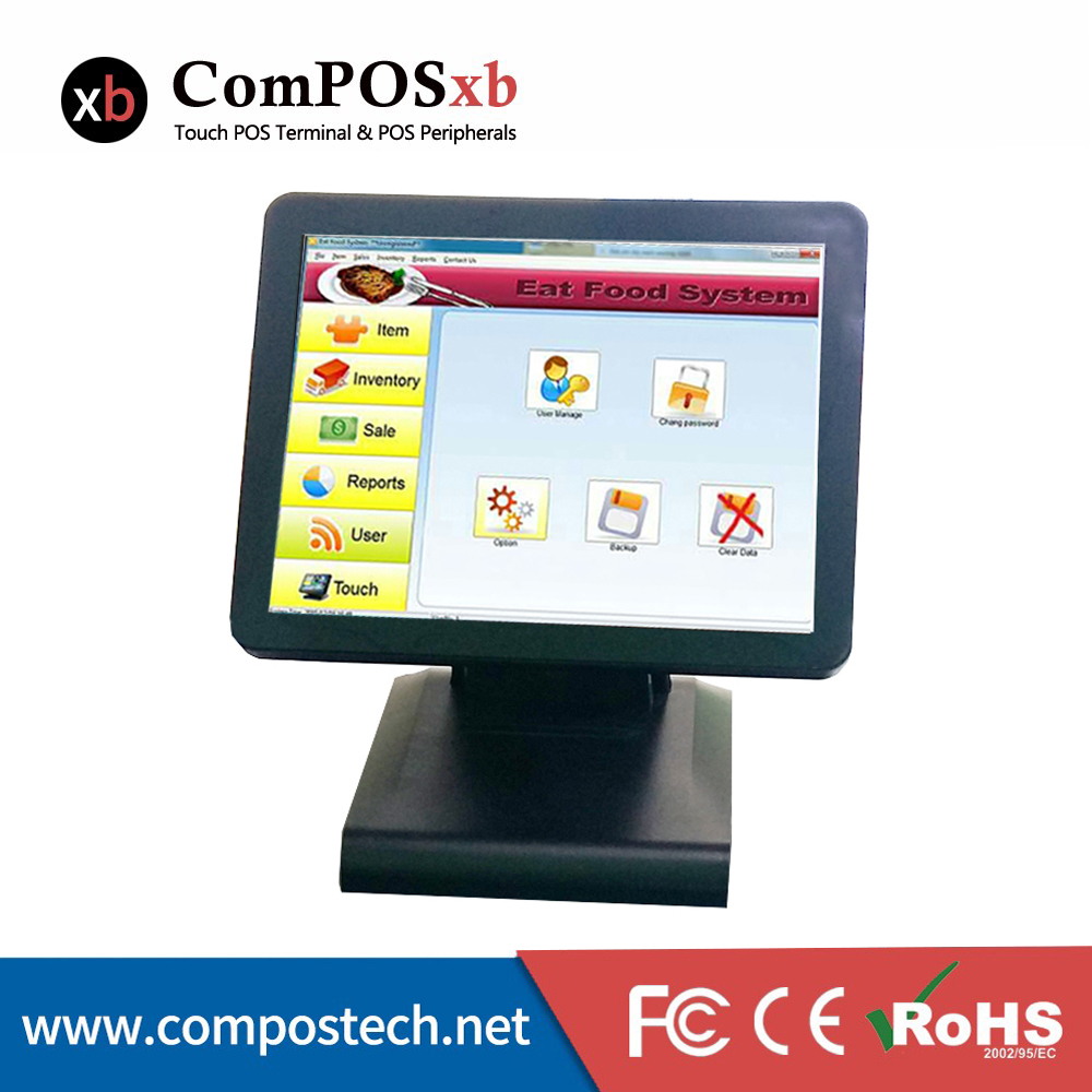 Large memory 128 GB SSD 15 inch Epos font b system b font Point of Sale