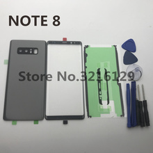 NOTE8 New Original For Samsung Galaxy NOTE 8 N950 N950F Back Glass Cover Rear Battery Door+Front glass lens+adhesive+tools