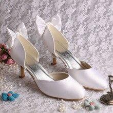 Wedopus Пользовательские Ручной Женщины Насосы Высокие Каблуки Свадебные Туфли Бабочкой Размер 9