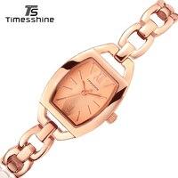 Timesshine Simple Rose Gold Bracelet Watches 3ATM Water Resistant Women Luxury Brand Quartz Watch Horloge Dames