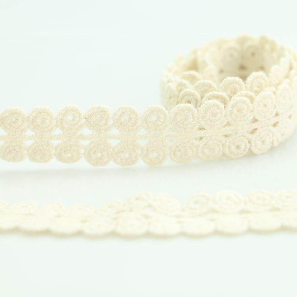 HTB1nJBLqwoQMeJjy0Fnq6z8gFXaD 4YARD Apparel Sewing Fabric DIY Ivory Cream Black Trim Cotton Crocheted Lace Fabric Ribbon Handmade Accessories Craft 11021