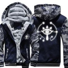 New Winter Warm Game The Legend of Zelda hoodie Breath of the wild Eye Hooded Coat Thick Zipper men casual Jacket Sweatshirt