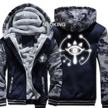 New Winter Warm Game The Legend of Zelda hoodie Breath of the wild Eye Hooded Coat Thick Zipper men casual Jacket Sweatshirt