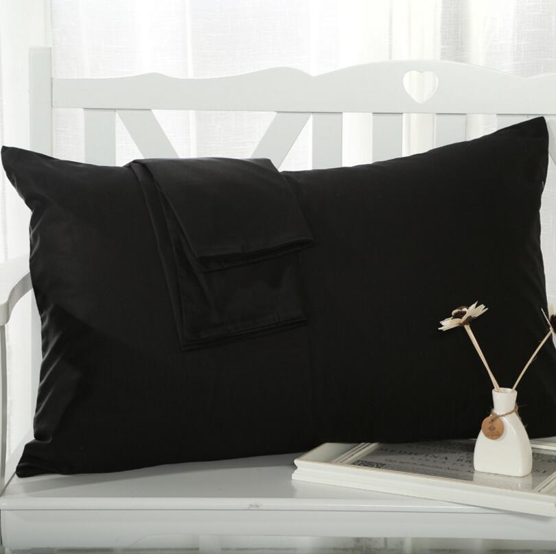 48x74 cm Envelope Pillow Cover 100% Cotton Solid Color Standard Pillowcase Black White Red Bedding Pillow case Home Textile