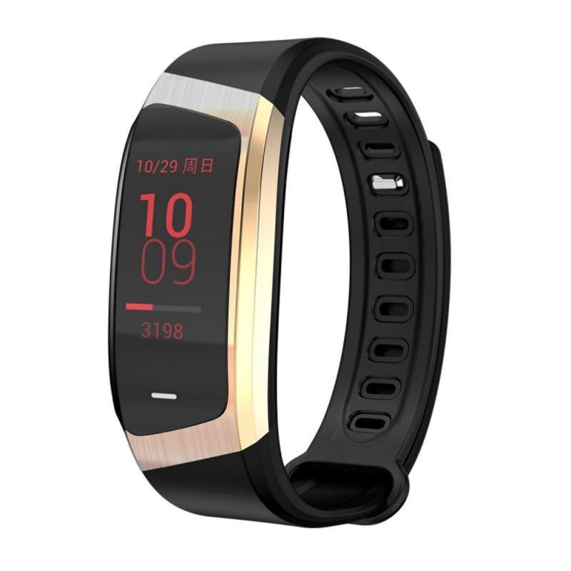 E18 браслет с цветным смарт экраном IP67 Водонепроницаемый кровяное давление кислород монитор сердечного ритма спортивный фитнес трек запись