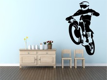 Motocross Cool Wall Decal Vinyl Stickers For Boys Rooms Modern Design Man Sport Home Decor Art Mural Interior StickerSYY865
