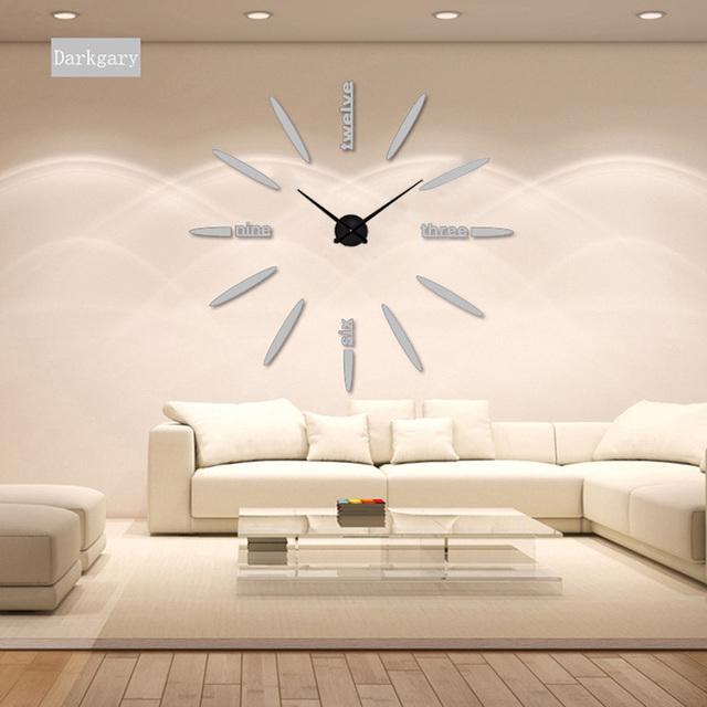 2017 muhsein  Wall Clock Acrylic+EVR+Metal Mirror Super NEW Personalized Digital Watches Clocks hot DIY Free shipping