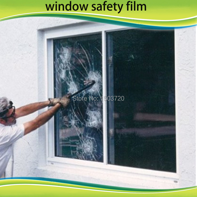 3M Transparent 4mil safety and security window film to protective car or building window glass film