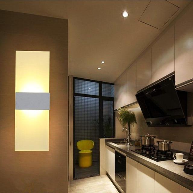 US $10.47 |Moderne LED Wand Lichter Acryl Schlafzimmer Toilette Wohnzimmer  Indoor Wand Scones Warm Weiß Lampe Hause Beleuchtung für Studie Dekoration  ...