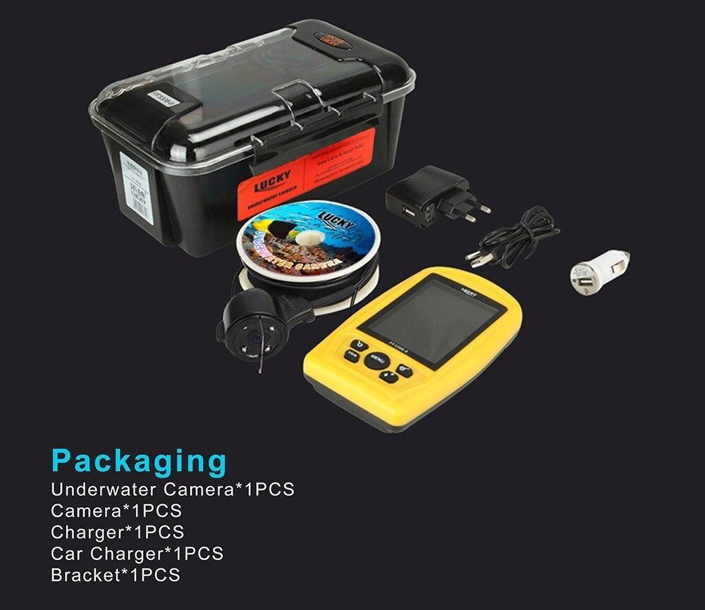 Sonar de poisson étanche détecteur FF3308-8 sondeur écho alarme carpe pêche FindFish avec 3.5 pouces couleur LCD PAL/NTSC capteur sondeur