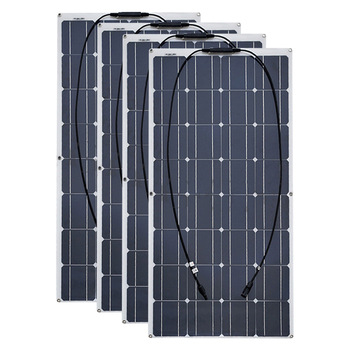 4PCS 6pcs 8pcs 10pcs Flexible solar Panel 100W Monocrystalline Cell 12V 24 Volt 100 Watt placa portatil powerbank 400w 600w 800w 1