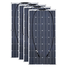 4PCS 6pcs 8pcs 10pcs גמיש פנל סולארי 100 W תא Monocrystalline 12V 24 וולט 100 ואט placa portatil powerbank 400w 600w 800w