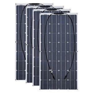 Image 1 - 4PCS 6pcs 8pcs 10pcs Flexible solar Panel 100W Monocrystalline Cell 12V 24 Volt 100 Watt placa portatil powerbank 400w 600w 800w