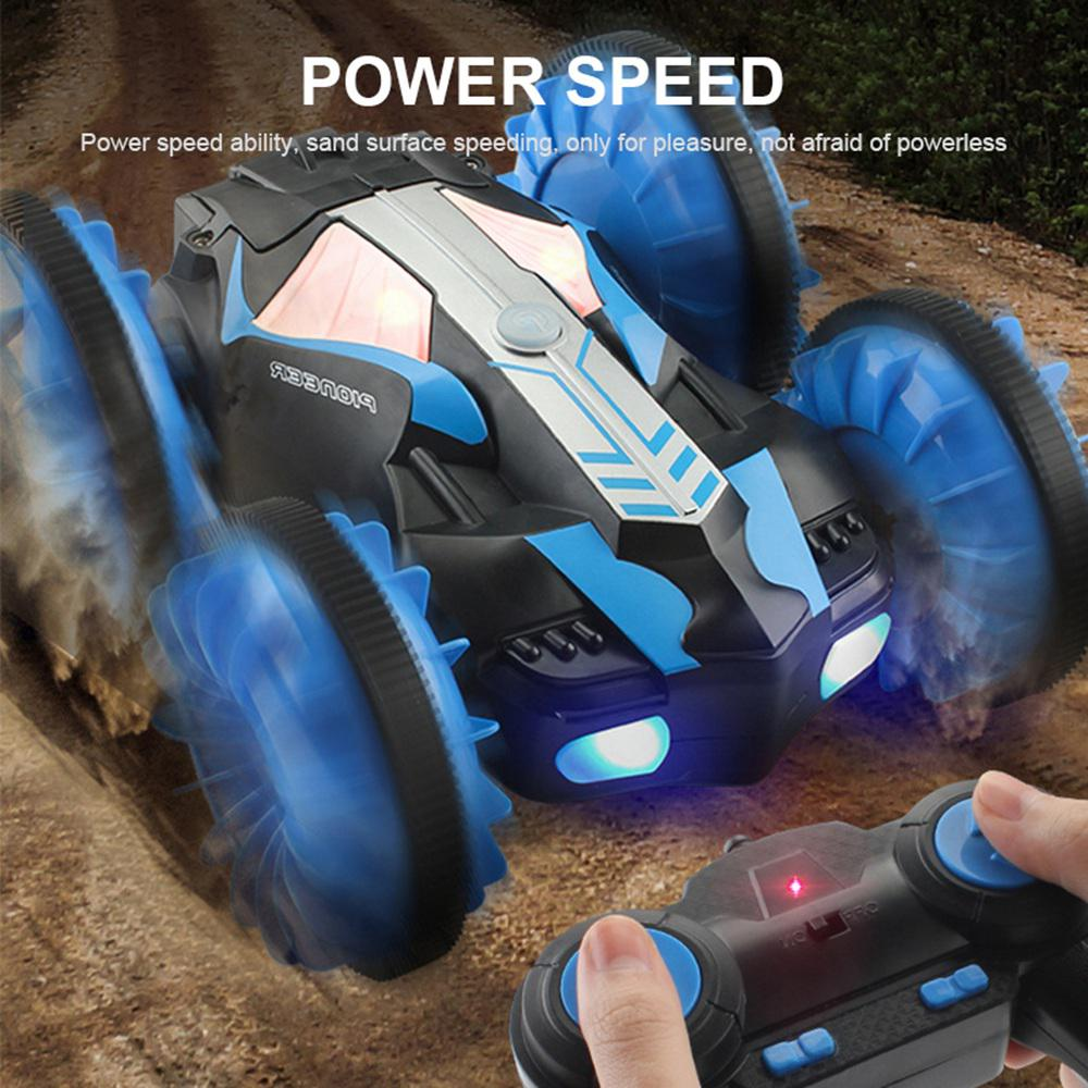 Image 4 - RC Amphibious Stunt Car Waterproof 360 Degree Rotation Remote Control Car Power Speed Vehicle Toys for Kids-in RC Cars from Toys & Hobbies
