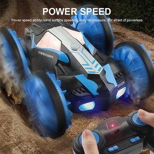 Image 4 - RC Amphibious Stunt Car Waterproof 360 Degree Rotation Remote Control Car Power Speed Vehicle Toys for Kids