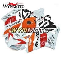 Complete ABS Plastic Injection Orange White Red Motorcycle Fairings For Honda CBR1000RR 04 05 2004 2005 Sportbike Cowlings