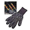 12.5''  Ultimate Barbecue BBQ Pit Mitt Heat Resistant Fireplace BBQ Grill Kitchen Glove Microwave Silicone Oven Mitts manoplas