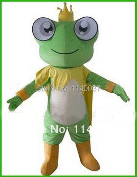 Maskottchen Frosch Prince Frosch Konig Maskottchen Kostum