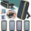 Manivela Solar Cargador universal 5400 mah powerbank nuevo producto de la llegada con el panel solar y la luz solar Envío gratis