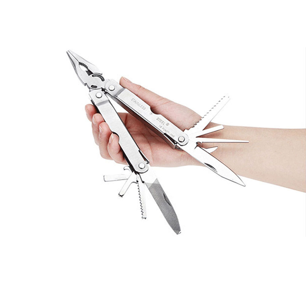 15 in 1 Multifunction Premium Pocket Multitool With Sheath Knife Pliers Saw Screwdriver Scissors Free Shipping