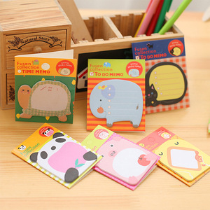 Image 1 - 48 pcs/Lot Animal sticky note Time schedule memo card Adhesive post sticker Frog rabbit Office material school supplies F547